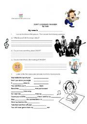 English Worksheet: Listening Activities - Don�t look back in anger - Oasis