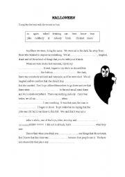 English Worksheet: Terror Story-Halloween