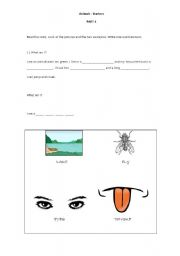English Worksheets: Starters - Part 4 - Animals vocab. Cambridge - YLE
