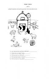 English Worksheet: Starters - Part 5 - Animals vocabulary - Cambridge test - YLE