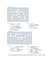 English Worksheets: GREETINGS CROSSWORDS