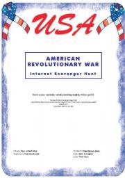 English Worksheets: American Revolutionary War