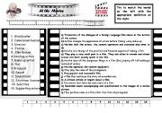 English Worksheet: At the movies