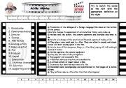 English Worksheets: At the movies