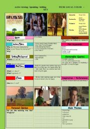 English Worksheets: MOVIE: Local Color