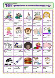 English Worksheet: Questions with