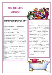 English Worksheet: THE DEFINITE ARTICLE