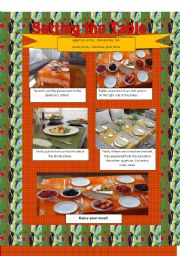 Let´s set the table (imperatives) Part 2