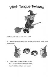 Witch Tongue Twisters For Halloween