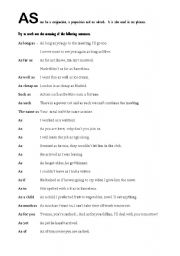 English Worksheets: AS