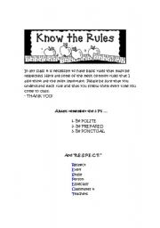 English Worksheets: Classrules