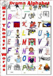 English Worksheet: Drama Alphabet