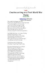 English Worksheets: World War One