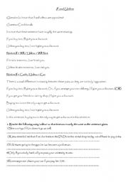 English Worksheet: if  and unless
