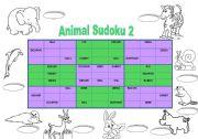 English Worksheets: Animal Sudoku 2 + key (fully editable)
