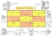 English Worksheets: Animal Sudoku 3 + key (fully editable)