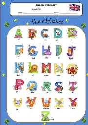 English Worksheets: Alphabet- how to pronouce it