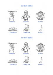 English Worksheets: First words