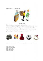 English Worksheet: vocabulary-at the post office-possessive case