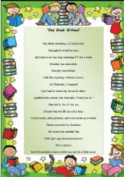 English Worksheet: Poem - One Week Without