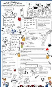 English Worksheet: to be and personal pronouns