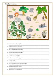 English Worksheets: In the zoo!