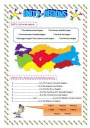 English Worksheet: Regions of Turkey
