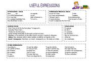 English Worksheets: USEFUL EXPRESSIONS FOR ESSAYS