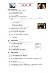 English Worksheets: Movie class