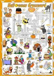 English Worksheet: HALLOWEEN - Crossword