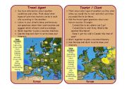 English Worksheet: Travel Agent/ Prospective Tourist Role-Play Cards