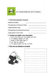 English Worksheets: work on pandas