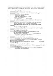 INTERROGATIVE PRONOUNS - ESL worksheet by chiquisister