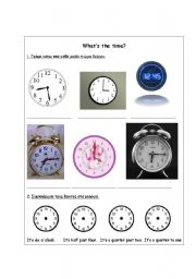 English worksheet: What´s the time?