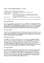 English Worksheets: American Pageant Chapter One