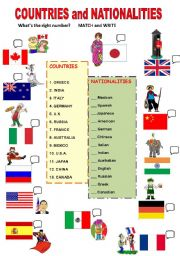 countries and nationalities matching esl worksheet by lia the teacher. Black Bedroom Furniture Sets. Home Design Ideas