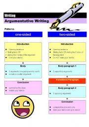 English Worksheet: Argumentative essay (6 pages)