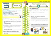 English Worksheets: Super Writers Series - Sentence building toolbox (and)