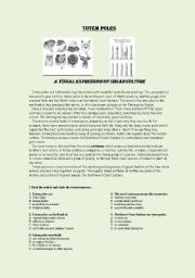 English Worksheets: Totem Poles