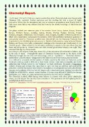 English Worksheets: CHERNOBYL REPORT.