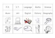English worksheet: subjects