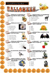 english worksheet halloween quiz - Halloween Trivia With Answers