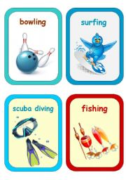 English Worksheets: Sports and Free Time Activities 3-3