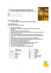 English Worksheets: Titan AE Movie activity