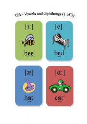 English Worksheet: IPA - Vowels and diphthongs (1 of 3)