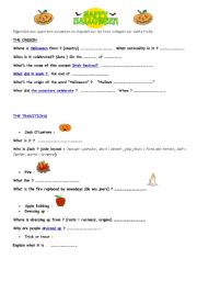 english worksheets webquest halloween - Halloween Web Quest