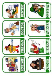 English Worksheets: OCCUPATIONS - FLASHCARDS 2/5