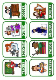 English Worksheets: OCCUPATIONS - FLASHCARDS 3/5
