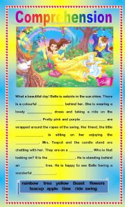English Worksheets: Comprehension - A Fun Day Outside