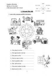 compass directions worksheet. Black Bedroom Furniture Sets. Home Design Ideas